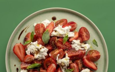 La salade tomate-fraise